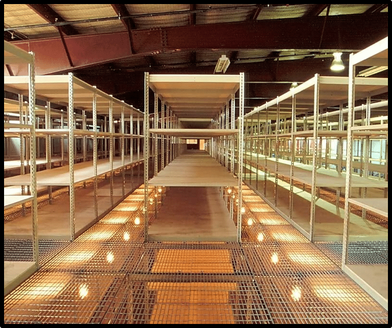High Bay Shelving Catwalk Systems 1