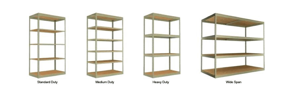 An assortment of Boltless Shelves